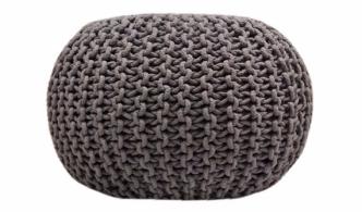 grey pouf